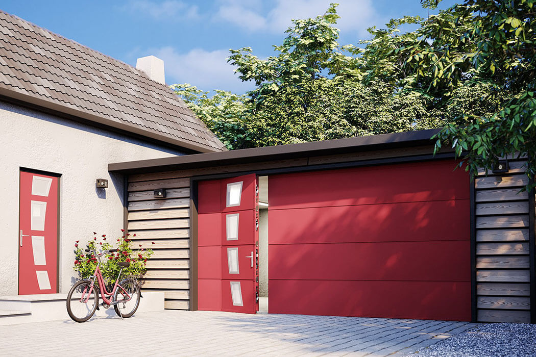 Porte de garage de Parthenay Menuiserie 17
