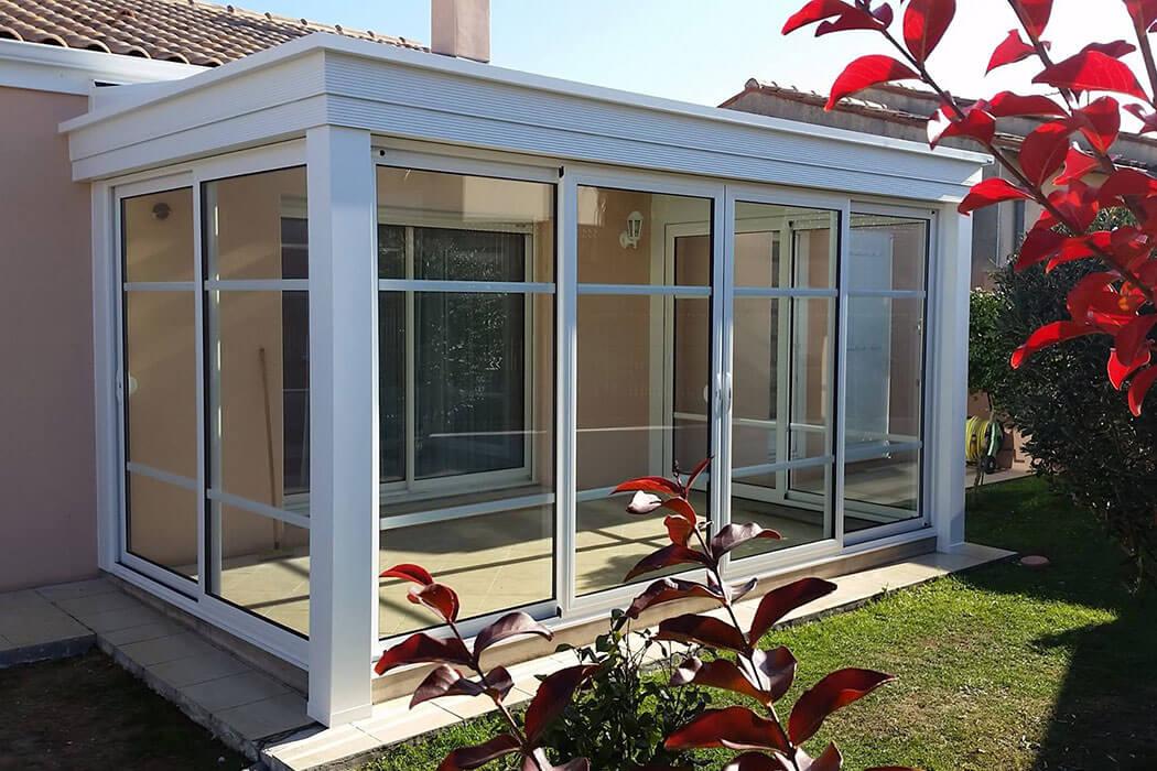 Veranda traditionnelle en aluminium de Parthenay Menuiserie 17